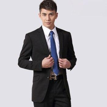 Men's Grooms Suit Tuxedos Wedding Suits Slim Fit costume homme Business Black Men Dress Suit 2017 Custom made Jacket+Pants