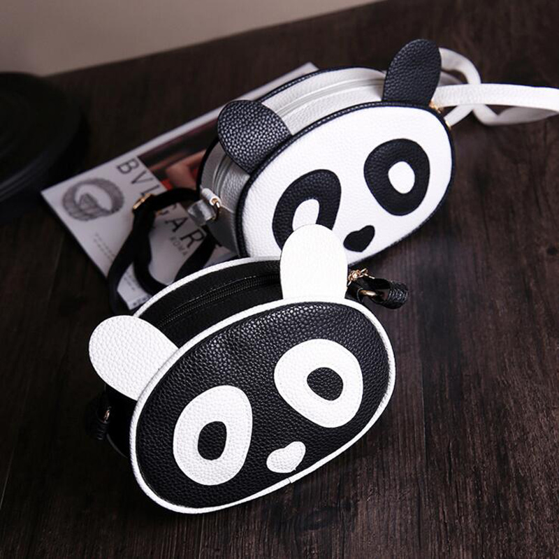 Women Messenger Bags Cute Panda Bag Leather Handbags Clutch Bag Bolsa Feminina mochila Bolsas Female  sac a main new cartoon women messenger bags big eyes bag leather handbags ladies clutch bag bolsa feminina bolsas female handbag 45