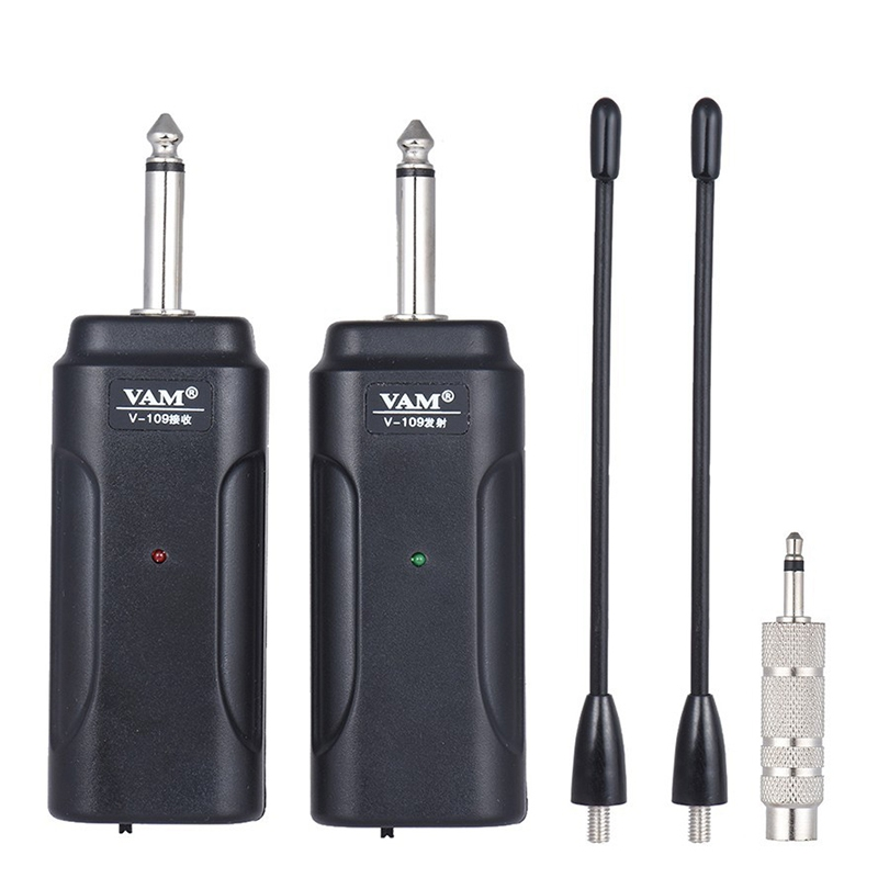 Portable Wireless Audio Guitar Transmitter Receiver System For Electric Guitar Bass Electric Violin Musical Instrument Wireles