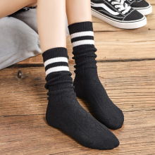 New socks vertical strips high-heeled cotton socks tide brand stockings