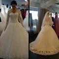 Gorgeous Wedding Dresses Beaded Appliques Lace Long Sleeves Wedding Gowns Vintage Bridal Gowns vestido de noiva trouwjurk l1615