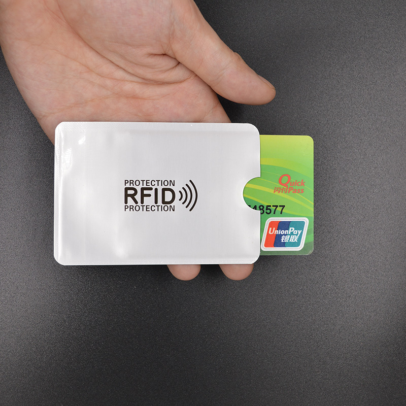 Aluminum Anti Rfid Reader Blocking Credit Card Holder Rfid