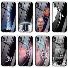 Protective Interstellar Tempered Glass Phone Case for iPhone Xs Max 11 pro Cover X 6 6S XR 8 Plus 7 5S 5 SE Cases(China)