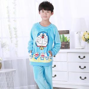 Image 5 - Kinderen Pyjama Herfst Winter Fonds Meisje Jongens Lange Mouw Flanel Coral Down Kids Kledingstuk Nachtkleding Woninginrichting Dienen UE67