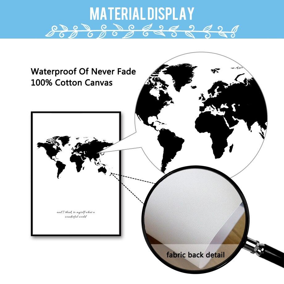7-διάστημα παγκόσμιο χάρτη καμβά - Διακόσμηση σπιτιού - Φωτογραφία 4