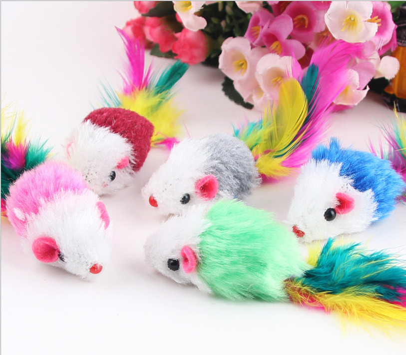 3pcs Funny Cat Playing Interactive Toy Pet Cat Toys Fur False Plush Fake Mouse