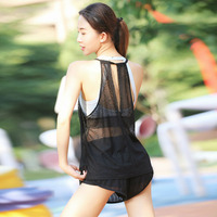 2018 New Sexy Transparent Loose Tank Tops Women S Hollow Lace Print Shirts Summer Breathable Dry