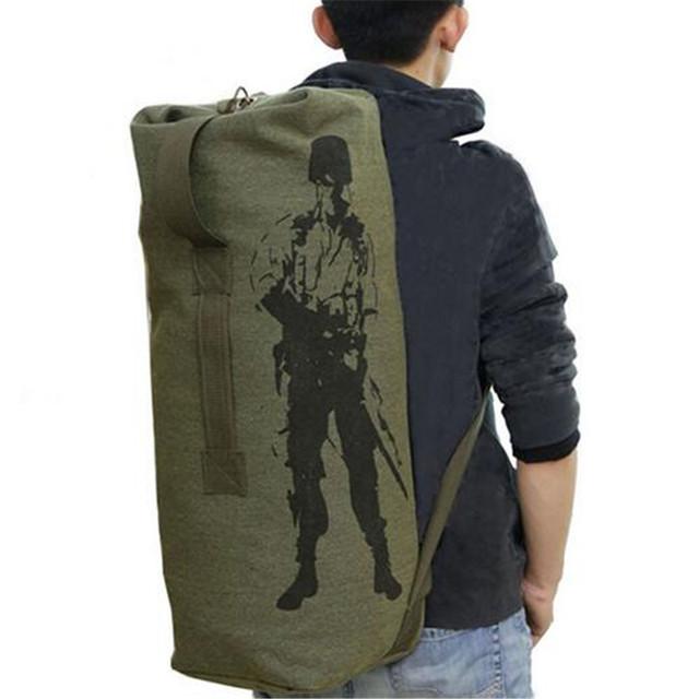 Bagagem de Viagem dobrável Saco de Lona Homens Mochila Militar Do Exército bolsa de Ombro Grande Capacidade Mochila Mochila Mochila Deporta