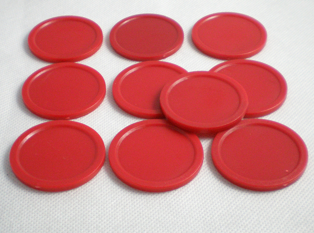 Free shipping 10pcs/lot 60mm 2.36 red Air hockey table pusher puck mallet GoalieS 601 free shipping 10pcs tms3705a