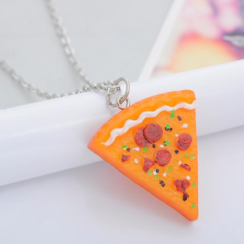 7 pcs / set Pizza Pendant Kalung Keychain Keyring Sahabat Selamanya - Perhiasan fashion - Foto 5