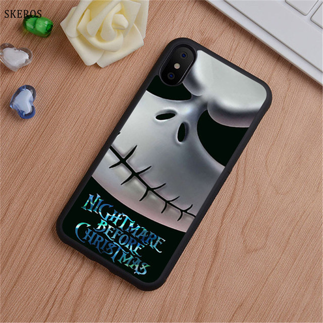on sale 3020b a9eb2 US $3.74 25% OFF|SKEROS Nightmare Before Christmas Jack Skeleton Vintage  phone case for iphone X 4 4s 5 5s 6 6s 7 8 6 plus 6s plus 7 & 8 plus #B-in  ...