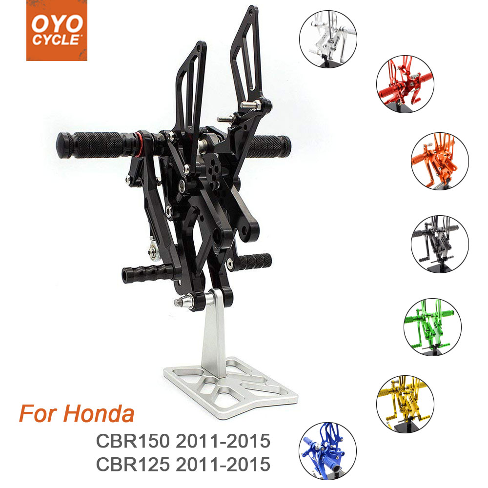 For Honda CBR Series 150/125 2011-2015 Motorcycle Rear Set Accessories CNC Adjustable Rearset Foot Pegs CBR150 CBR125 Foot Rests