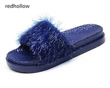 купить Fashion Women Slides Summer Slippers Platform Beach Sandals Flip Flips Ladies Flat Heel Shoes Slippers Bling Women Home Slippers по цене 1131.17 рублей