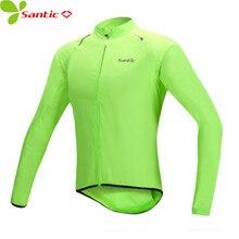 SANTIC Waterproof Cycling Jackets Men Rain Coat Bicycle Bike Windbreaker Jersey Cycle Long Sleeve Wind Slim Maillot Clothing цена