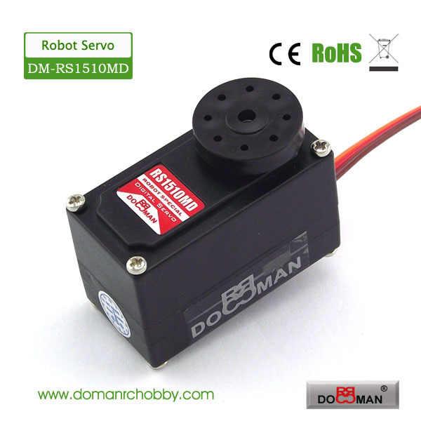 1 шт./лот DM-RS1510MD металлическая передача цифровая Низкопрофильная arduino гуманоид rc робот сервопривод