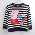2016 Fashion Children Clothes For Baby Kids Tops Spring Long Sleeve Girls t shirt Cotton Cartoon Pig