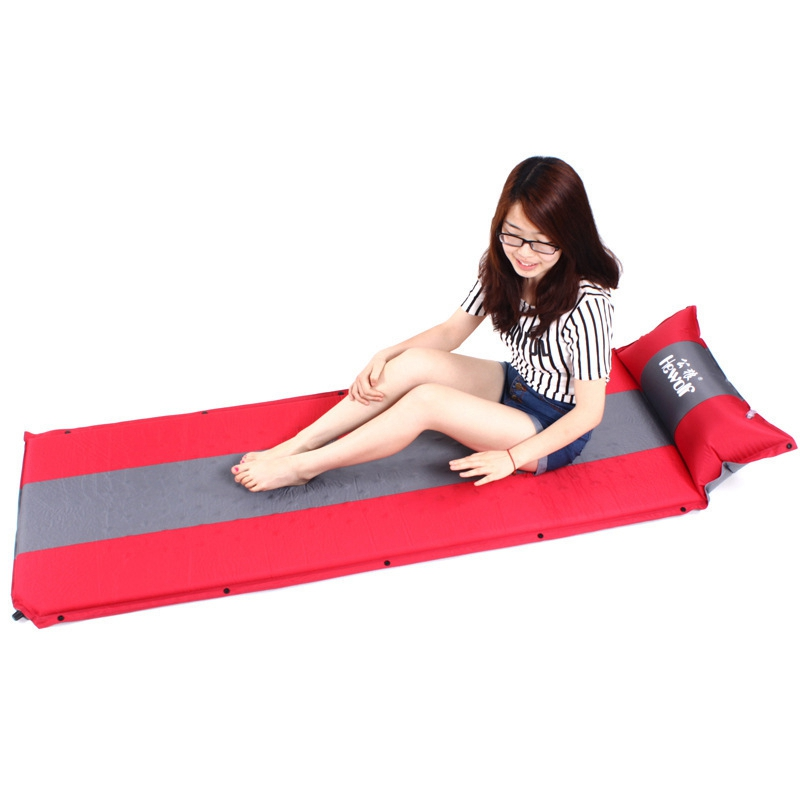 Memory Sponge Camping Automatic Mattress Sleeping Dampproof Pad Single People Self Inflatable Cushion Including Pillow
