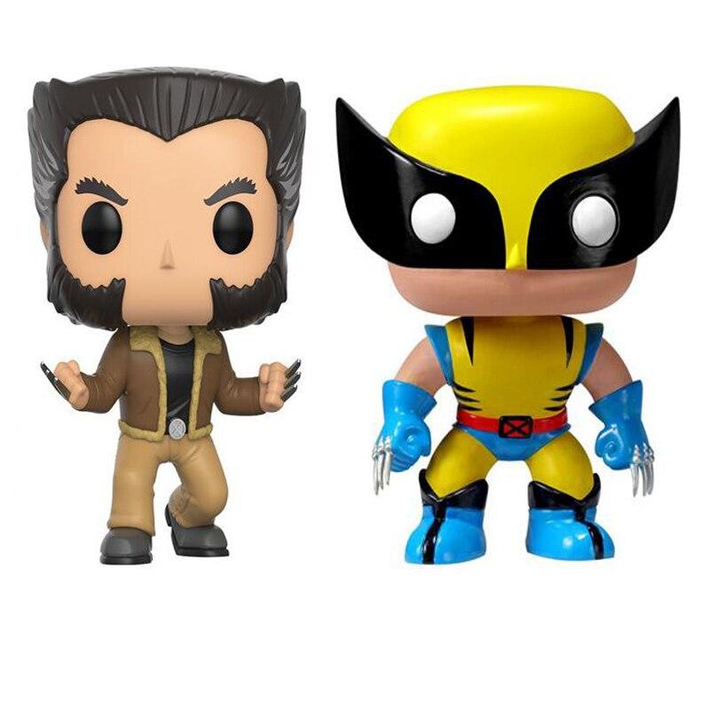 WOLVERINE Logan Super Hero X-MEN 10 cm VINYLE BOBBLE HEAD Action Figure Collection Modèle Jouets