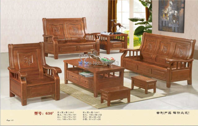 Wonderful Wooden Sofa Set Good Quality Furniture For Living Room Or Office