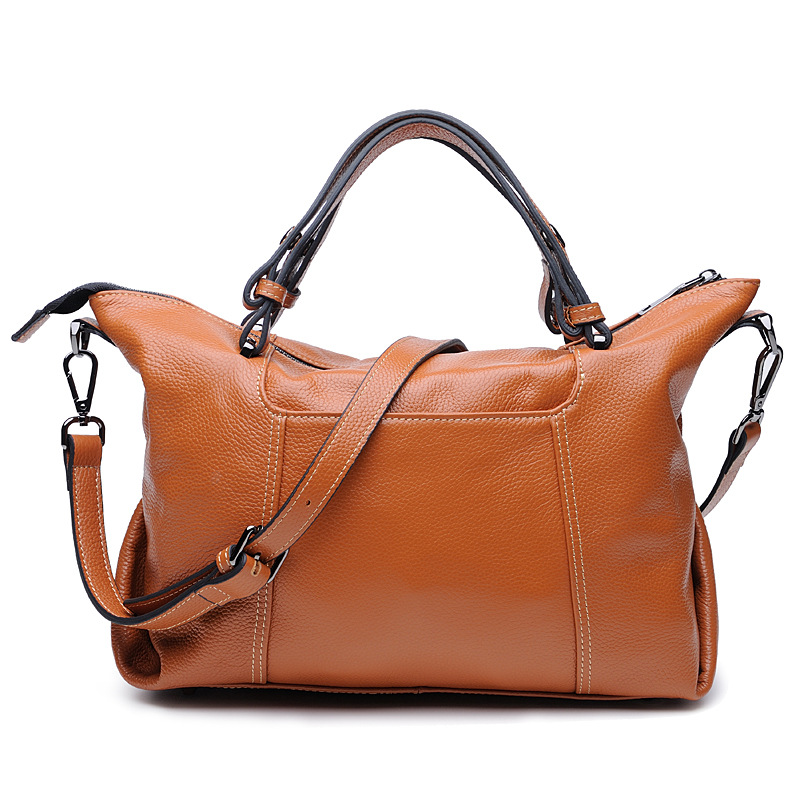 Genuine Leather Bags Ladies Real Leather Bags Designer Handbags High Quality Female Crossbody Shoulder Casual Tote Bag for women ladies luxury designer handbags high quality real genuine leather tote bag chain lock crossbody bags for women shoulder handbags