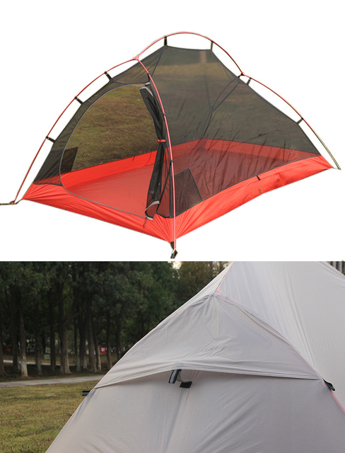 Ultralight Flytop 20D Silicon Nylon 2 Person Tent Hiking Trekking 3
