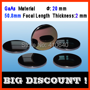 GaAs material diameter 20 mm focalize length 50.8 mm thickness 2 mm CO2 laser focalize len for laser engraver cutting Machine doumoo 330 330 mm long focal length 2000 mm fresnel lens for solar energy collection plastic optical fresnel lens pmma material