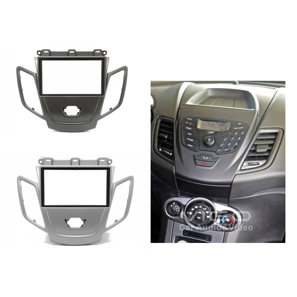 Car Radio Facia For Ford Fiesta 2008 Stereo Dash Kit Fitting Fascia Panel Wiring Harness Aerial Installation Cd Face Plate Dvd Frame Double Din In Fascias From Automobiles