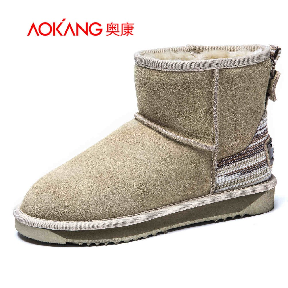 AOKANG 2016 winter women boots soft fashion boots for lady  female shoes free shipping 2016 winter new soft bottom solid color baby shoes for little boys and girls plus velvet warm baby toddler shoes free shipping