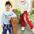 Child Baby Boys Capris Long Pants Trousers Casual Pattern Cotton Bottoms Clothing 2-6Y 2016