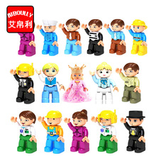 Duploe Action Figures Bricks Compatible With Duploe Family Police Princess DIY Building Blocks Educational Toys For Baby Gifts