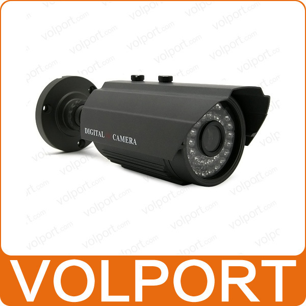 "Free Shipping Outdoor Security Surveillance HD 1/3"" Sony Effio CCD 700TVL OSD Menu IR 30m Waterproof Camera with Bracket"