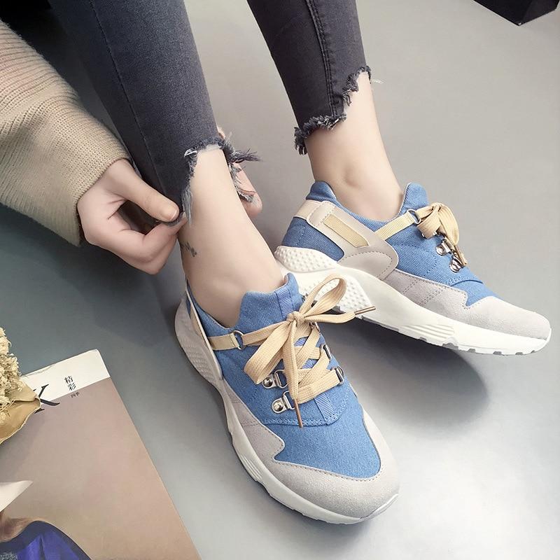 Модные Шелковые riband Тренеры Кроссовки Женская Повседневная обувь замшевые Grils на танкетке парусиновая обувь Женская обувь tenis feminino zapatos mujer