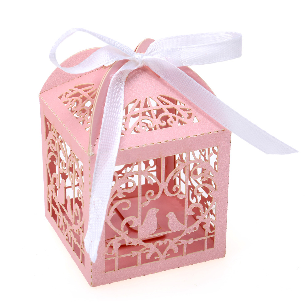 50pcs/lot Gift Boxes Heart Love Birds Party Wedding Bridal Shower ...
