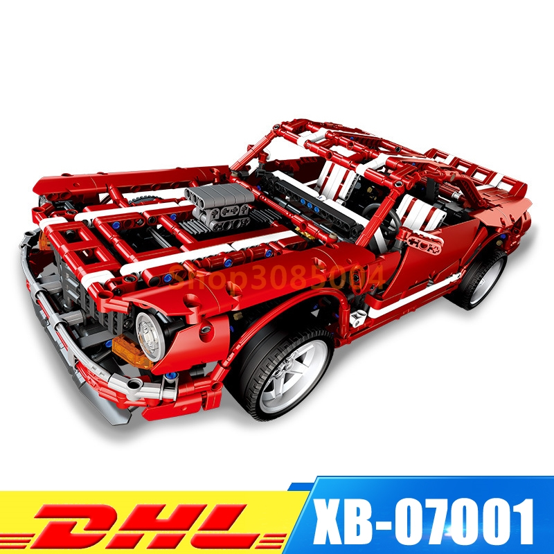 XingBao 07001 Block 2000Pcs Creative MOC Kits 2014 Muscle Car children Educational font b Building b