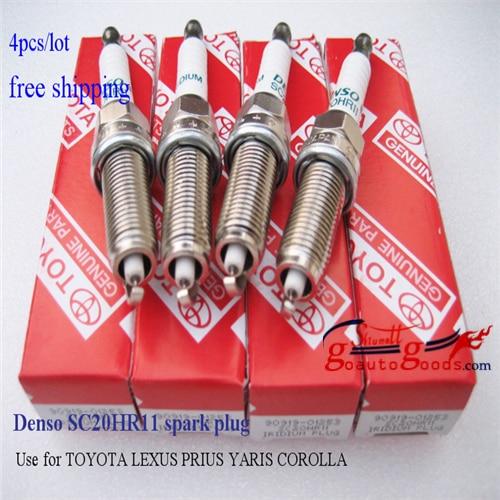 DENSO Iridium Platinum SC20hr11 spark plugs used for LEXUS