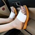 2016 novas mulheres sandálias flat toe com toe sapatos maré Roma sandálias planas plus size 34-43