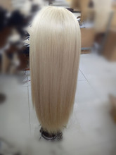 613 Full Lace Human Hair Wigs Blonde Vrigin Brazilian Hair Silky Straight Blonde Human Hair Wig With Bleached Knots Baby Hair