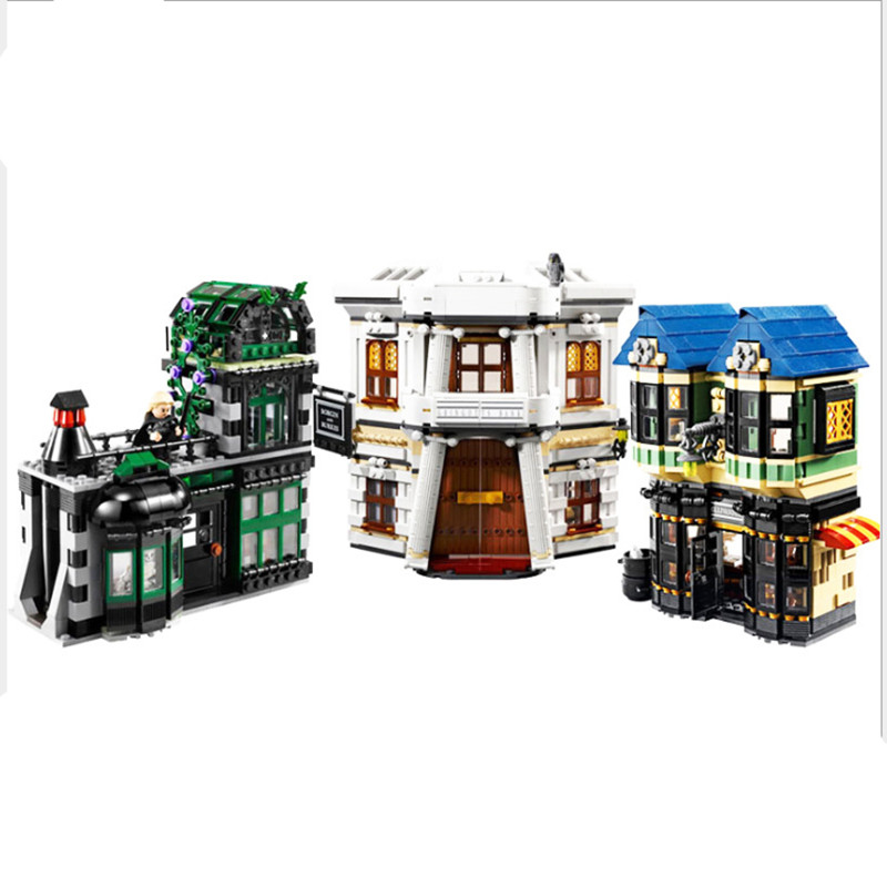 LEPIN 16012 2025Pcs Harry Potter Magic Word Diagon Alley Model Educational Building Blocks Bricks Compatible Children Toys Gift 1033pcs lepin 16029 harry potter magic hogwart s castle figure blocks compatible 5378 construction building toys for children