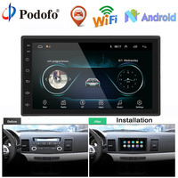 Podofo Car Radio Android Multimedia player 2 Din 7'' Touch Screen Autoradio Bluetooth FM WIFI AUX 2DIN Auto Audio Player Stereo