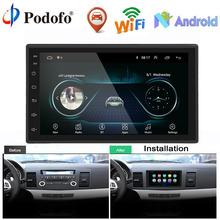 "Podofo Auto Radio lettore Multimediale Android 2 Din 7 ""Touch Screen Autoradio Bluetooth FM WIFI AUX 2DIN Auto Audio lettore Stereo"