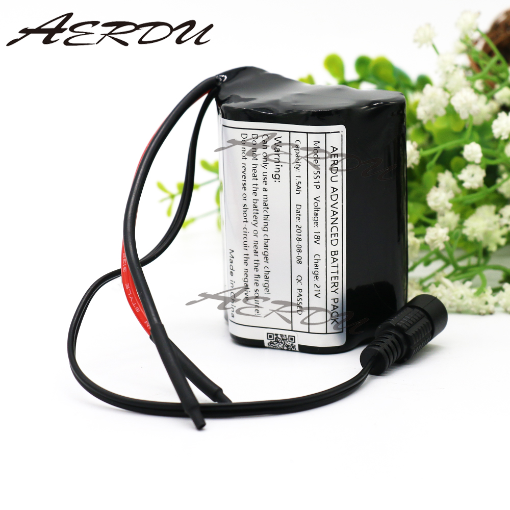 цена на AERDU 5S1P 15C 1500mah 18V 21V High rate Rechargeable lithium ion 18650 battery pack For power tools