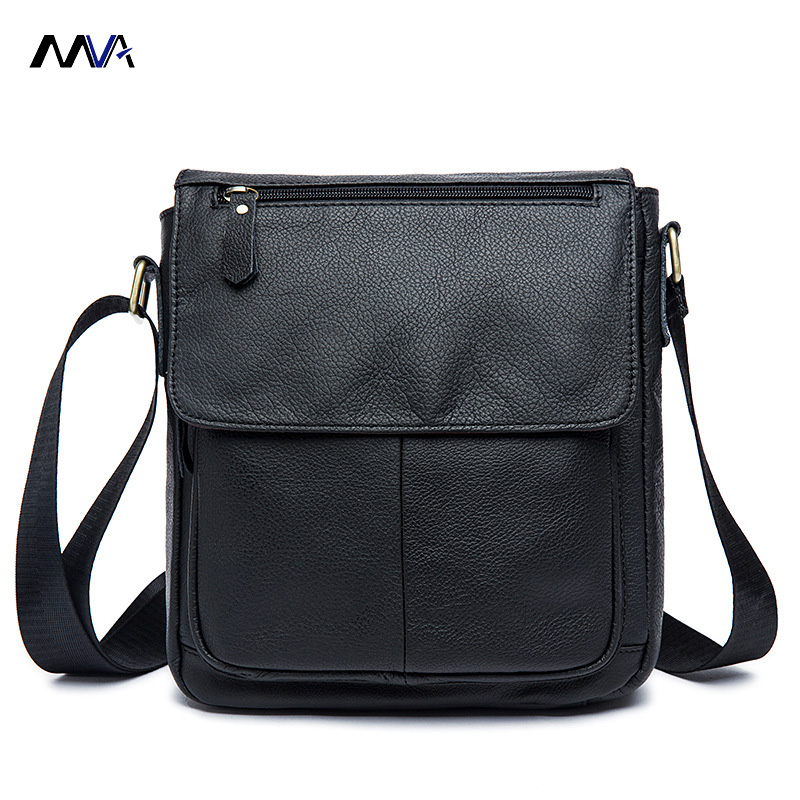 MVA Men Genuine Leather Bag Shoulder Crossbody Bags Casual Handbags Small Flap Men Leather bag Men's Messenger Bags mva men genuine leather bag messenger bag leather men shoulder crossbody bags casual laptop handbag business briefcase