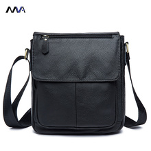MVA Men Genuine Leather Bag Shoulder Crossbody Bags Casual Handbags Small Flap Men Leather bag Men's Messenger Bags
