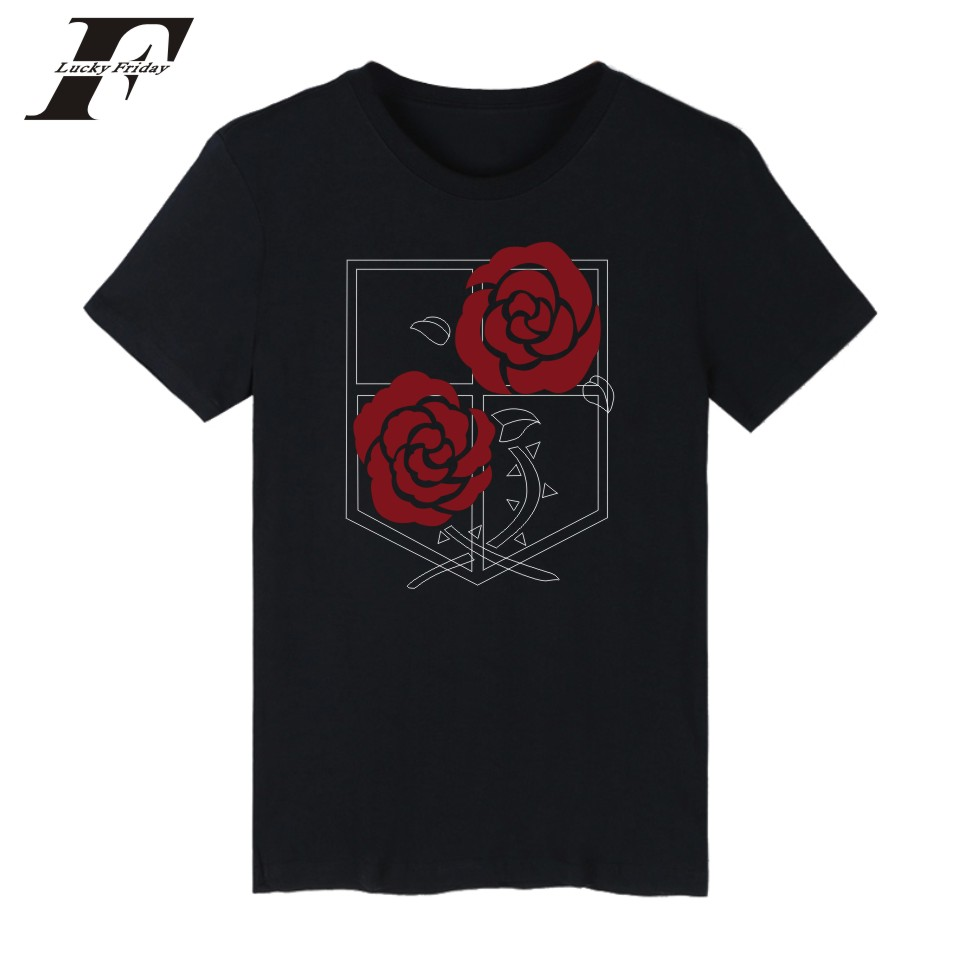 2017 Attack On Titans Short Sleeve fitnees T-shirt men women Summer  Cotton Casual t Shirt Solid T Shirt Men plus size tee Tops