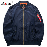 Riinr New Jacket Men Fashion Casual Loose Mens Jacket Sportswear Outdoors Bomber Top coat Mens Jackets And Coats Plus Size M 5X