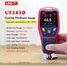 UNI-T UT343D Толщиномер цифровой измеритель покрытия измеритель толщины краски для автомобилей Тестер FE/NFE измерение с USB функцией передачи данных