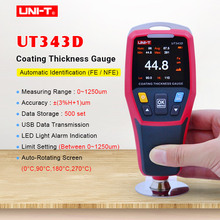 UNI T UT343D Thickness Gauge Digital Coating Gauge Meter Cars Paint Thickness Tester  FE/NFE measurement with USB Data Function