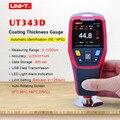 UNI-T UT343D medidor de espesor de revestimiento Digital medidor de pintura de coches probador de espesor de pintura FE/NFE medición con función de datos USB