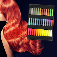 High Quality 2017 Fashion 36 Colors Pins Non Toxic Temporary Pastel Hair Square Hair Dye Color
