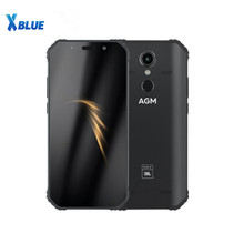 "AGM A9 JBL co marquage 5.99 ""4G + 32G 64GB Android 8.1 téléphone robuste 5400mAh IP68 étanche Smartphone Quad Box haut parleurs NFC"